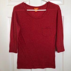Joe Fresh Shirt Reddish Orange Size Extra Small